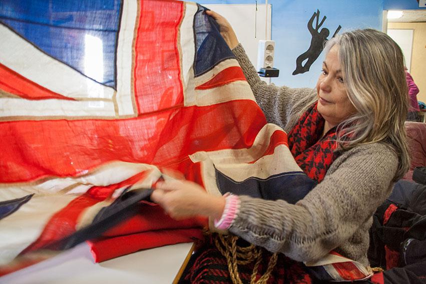 Originele 'Union Jack' Uit WOII Naar Neerijnen