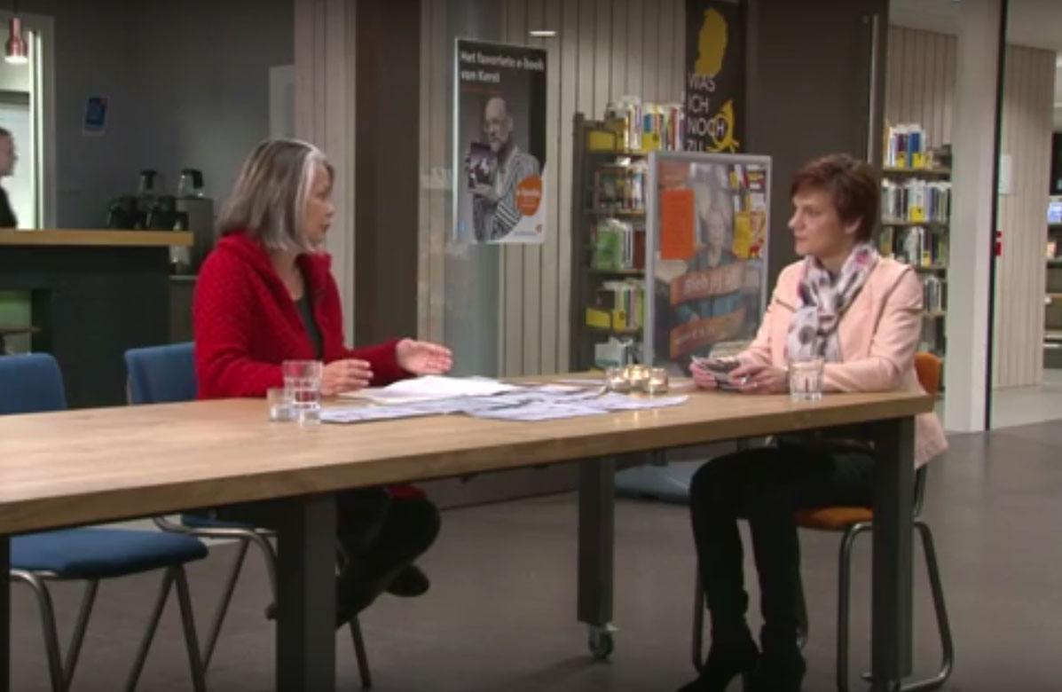 TV-interview Met Joyce Bloem In 'Dialoog'