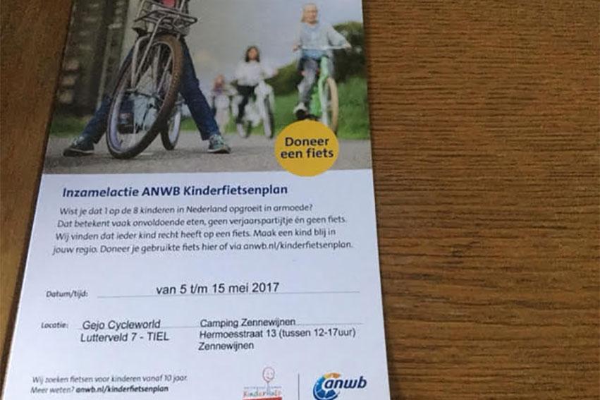 Inzamelingsactie ANWB Kinderfietsenplan Start Tijdens Tour De Waal