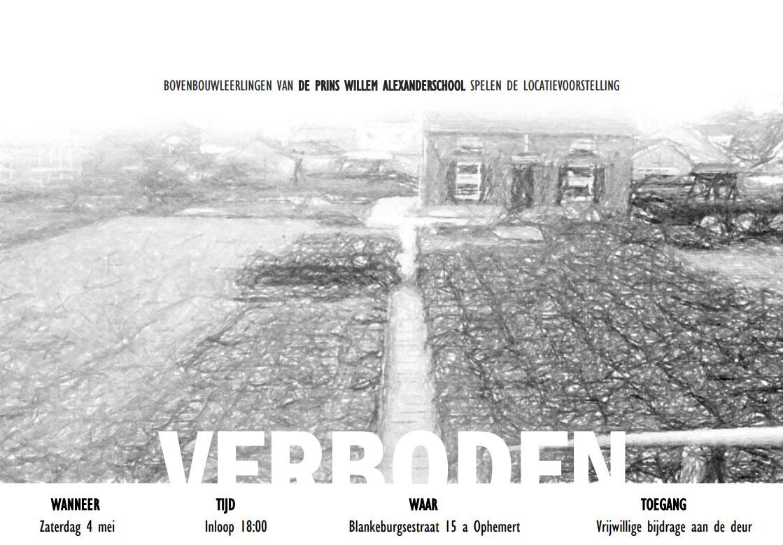 Voorstelling 'Verboden' Op 4 Mei In Ophemert